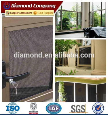 Durable Prowler Proof's black stainless steel security window screen mesh
