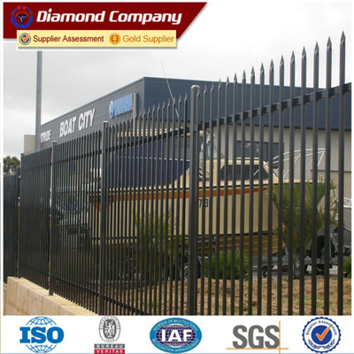 tubular steel fence,steel bar fence,horizontal steel fence