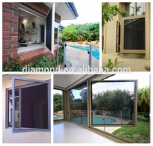 Very strong welded Aluminium frame site security stainless steel window security screens
