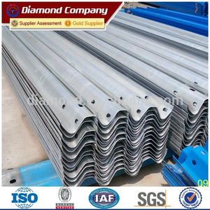 hot dip galvanized Highway Corrugated guardrail barrier price