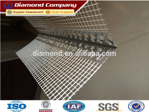 Perforated metal corner bead for concrete
