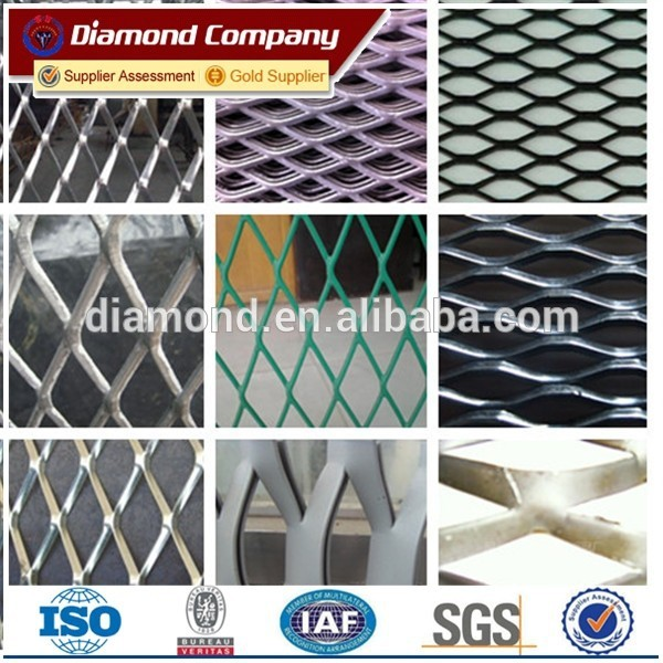 Powder Coated Expanded Metal Mesh / PVC coated expanded metal mesh
