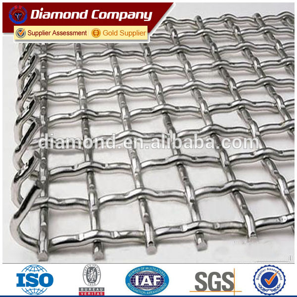 SGS factory! 304/316 stainless steel crimped wire mesh for hot sale