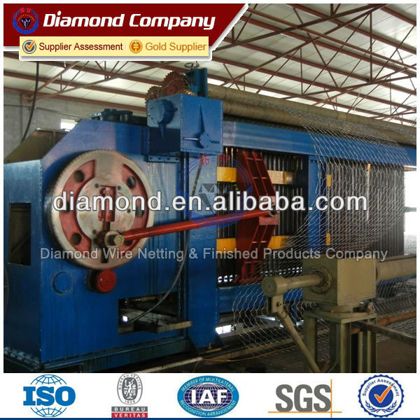 hexagonal wire mesh gabion making machine/gabion machine line