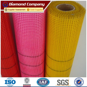 Plain Woven Weave Type and Medium Alkali Content fiberglass mesh net
