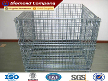 Hot sale welded wire mesh container,warehouse steel storage cage ,Metal storage cage container.equipment metal storage cage
