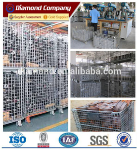 hot dipped galvanized foldable warehouse storage cage&stackable storage cage&warehouse storage cage&wire mesh storage cage