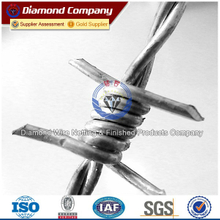 grass boundary galvanized barbed wire,barbed wire/prison barbed wire fence