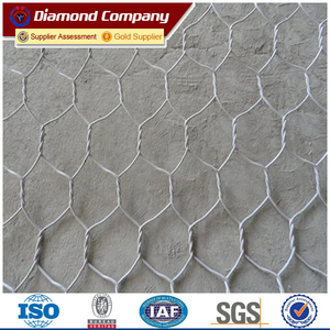 hot dipped galvanized hexagonal hole green wire mesh basket gabion