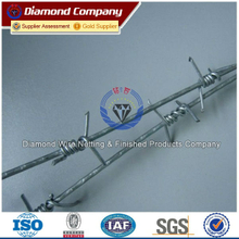 G.I. galvanized barbed wire/Factory supply ISO9001 barbed wire