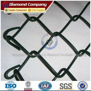 Black PVC Coated Chain Link Fence