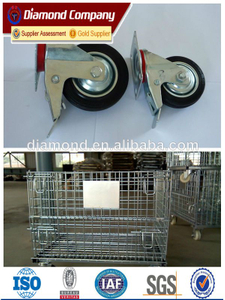 Metal Storage Cages with 4 wheels,rolling metal storage cage,portable storage cage