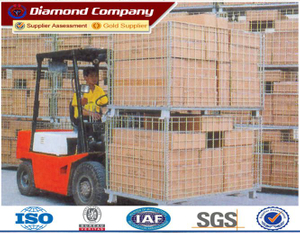 Hot dipped galvanized steel storage cages,storage cage rack,foldable metal cage storage container,folding steel storage cage,