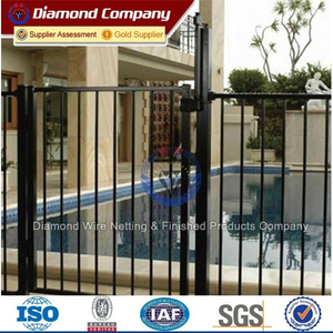 Decorative wrought iron fence/short wrought iron fence/white wrought iron fence for sale