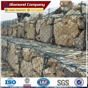 Hot-dipped Galvanized with PVC coated Gabion Basket for retaining wall
