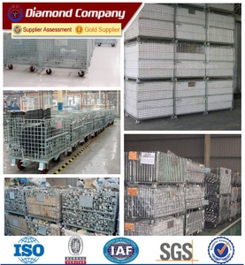 industrial foldable warehouse storage cage&equipment storage cage&warehouse storage cage with wheels