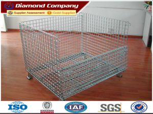 wholesale folding storage cage rack,galvanized steel storage cages,lockable metal storage cage.Passed ISO,BV,SGS