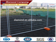 Extremely durable and portable metal temporary fencing panels