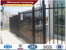 square steel fence,galvanized steel fence,steel bar fence