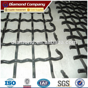 C45 woven screen mesh / mining screen mesh / crimped wire mesh