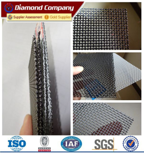 High tensile strengh AS5039-2008 316 marine grade stainless steel security screen mesh