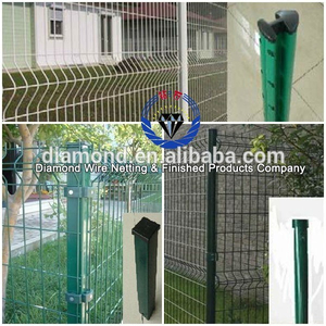 ISO certification welded wire fence panels/Green Vinyl Coated Welded wire Mesh Fence