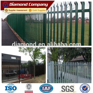 Powder coated palisade fencing/steel galvanized palisade fence
