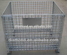 Top quality Meatal foldable Storage Cage,lockable storage cage,steel cage with wheels