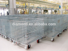 Hot sale Steel Wire Folding Storage Cage,wire container storage cages,metal storage cages with wheelswire mesh storage cage