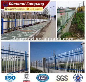 Durable powder coated steel wrought iron fences and garden gates
