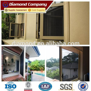 Casement timber paw proof black window security screens